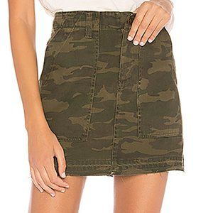 Sanctuary Raw Hem Camo Mini Skirt